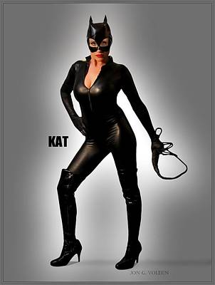 Kat Vgirl Pinup Poster