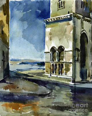 The Cathedral Of Trani In Italy Poster by Anna Lobovikov-Katz