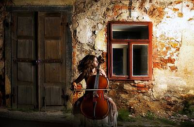 The Cellist Poster
