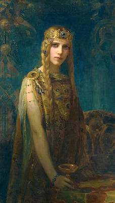The Celtic Princess Poster by Gaston Bussiere