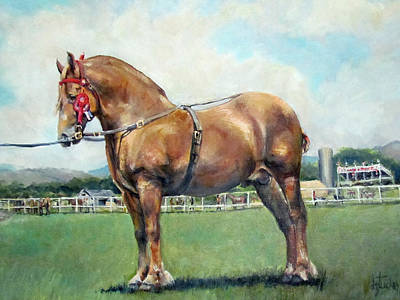 Poster featuring the painting The Champ by Donna Tucker