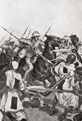 The Charge Of The 21st Lancers At Omdurman, Khartoum, Sudan During The Mahdist War In 1898.    From Poster by Bridgeman Images