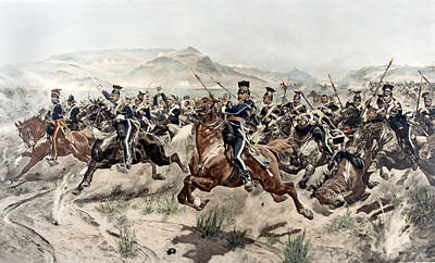 The Charge Of The Light Brigade, 1895 Poster by Richard Caton Woodville