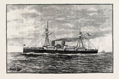 The Chilian Cruiser Esmeralda Poster by English School