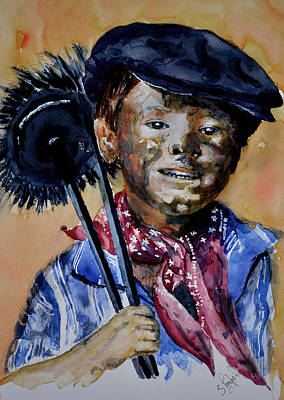 Poster featuring the painting The Chimney Sweep by Steven Ponsford