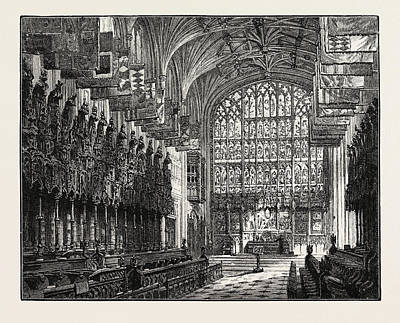 The Choir, St. Georges Chapel, Windsor Poster by English School