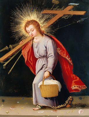 The Christ Child Bearing Instruments Of Passion Poster