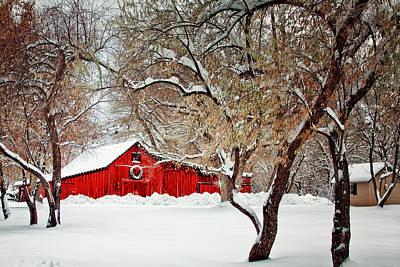 The Christmas Barn Poster by Teri Virbickis