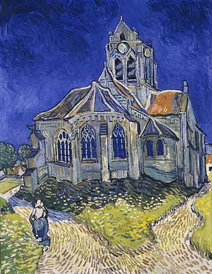 The Church In Auvers-sur-oise Poster