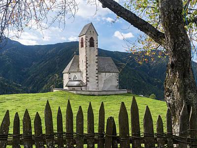 The Church Sankt Jakob, Villnoess Poster by Martin Zwick