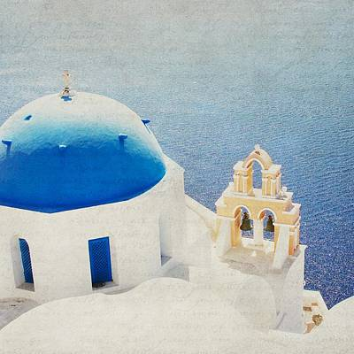 Poster featuring the photograph The Church - Santorini by Lisa Parrish