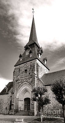 The Church With The Dormers On The Steeple Poster by Olivier Le Queinec