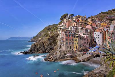 The Cinque Terre - Riomaggiore Afternoon Poster by Rob Greebon