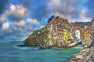 The Cinque Terre - Riomaggiore In The Morning Poster by Rob Greebon