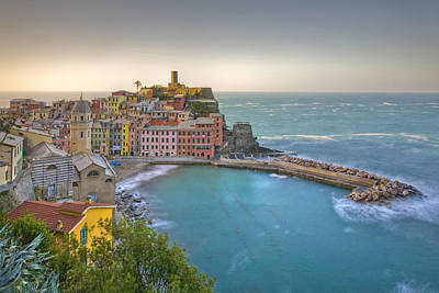 The Cinque Terre - Vernazza Morning II Poster by Rob Greebon
