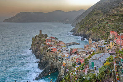 The Cinque Terre - Vernazza Morning Looking North Poster by Rob Greebon