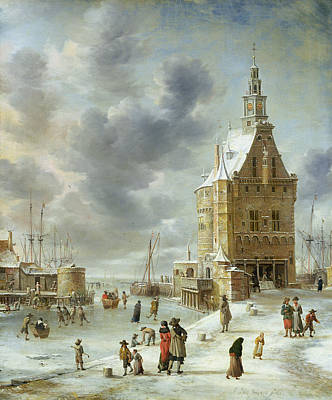 The City Gate Of Hoorn  Poster by Jan Abrahamsz Beerstraten