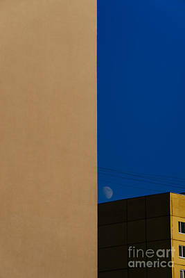 The City Landscape With The Moon Poster by Artem Korenuk