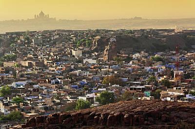 The City Of Jodhpur, India (blue City Poster by Adam Jones