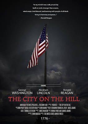 The City On The Hill Poster by John Haldane