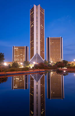 The Cityplex Towers - Tulsa Oklahoma Poster by Gregory Ballos
