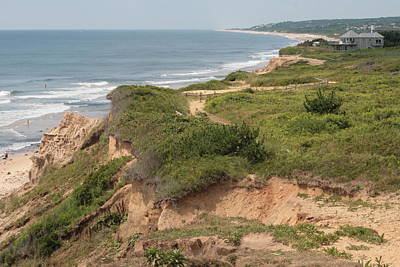 The Cliffs Of Montauk Looking West Poster