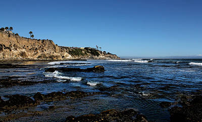 The Cliffs Of Pismo Beach Poster by Judy Vincent