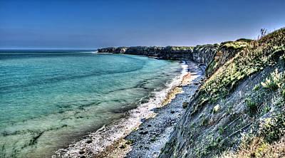 The Cliffs Of Pointe Du Hoc Poster