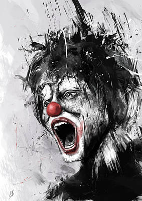 The Clown Poster by Balazs Solti