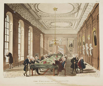 The College Of Physicians Poster by British Library