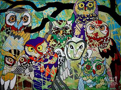 The Color Of Owls Poster by Amy Sorrell