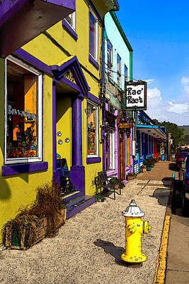 The Colorful Sidewalks Of Newport Poster by James Eddy