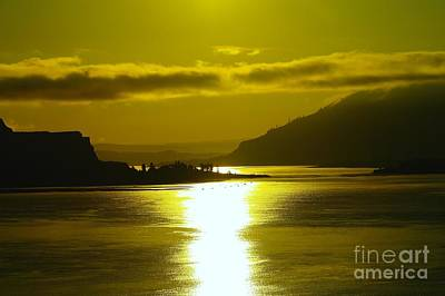 The Columbia River In The Morn   Poster