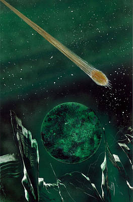 Poster featuring the painting The Comet by Jason Girard