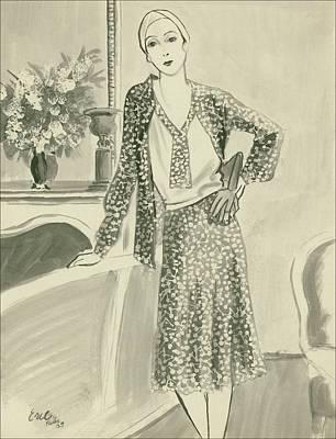 The Comtesse De Vogue Poster by Carl Oscar August Erickson