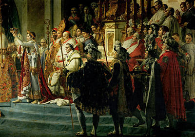 The Consecration Of The Emperor Napoleon 1769-1821 And The Coronation Of The Empress Josephine Poster by Jacques Louis David