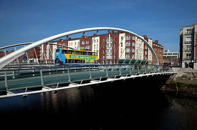 The Contemporary James Joyce Bridge - Poster by Panoramic Images