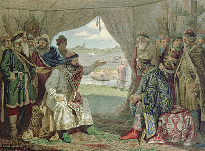 The Convention Of Princes With Grand Duke Vladimir Monomakh II 1053-1125 At Dolob In 1103, 1880 Wc Poster by Aleksei Danilovich Kivshenko