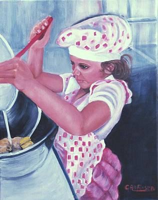 The Cook Poster by Carol Allen Anfinsen