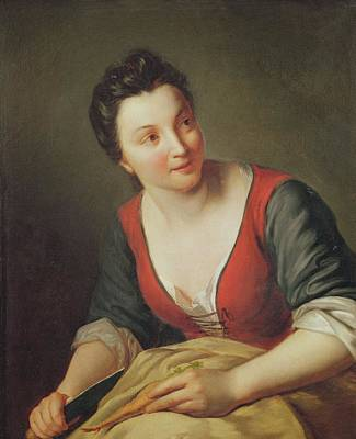 The Cook Oil On Canvas Poster by Jean Baptiste Santerre