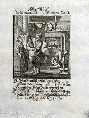 The Cook, Old Master Print, 17th Century Poster