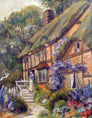Poster featuring the painting The Cottage by Donna Tucker