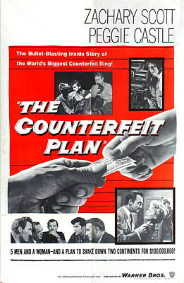 The Counterfeit Plan, Us Poster, Bottom Poster by Everett