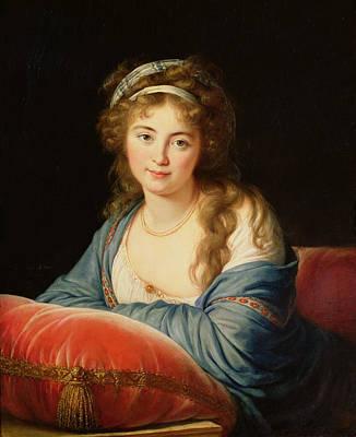 The Countess Catherine Vassilievna Skavronskaia Poster by Elisabeth Louise Vigee-Lebrun
