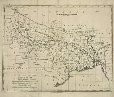 The Countries Of Indostan East Of Delhi Poster by British Library