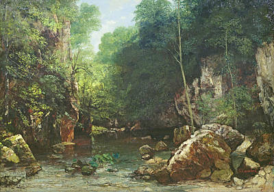The Covered Stream, Or The Dark Stream, 1865 Oil On Canvas Poster