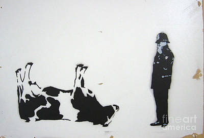 The Cow Poster by Bela Manson