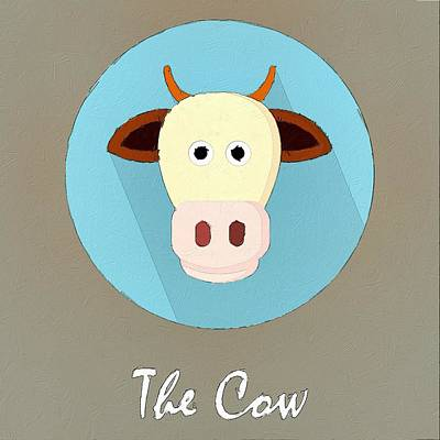 The Cow Cute Portrait Poster by Florian Rodarte