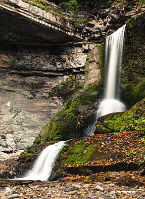 The Cowshed Falls Poster by Chris Babcock