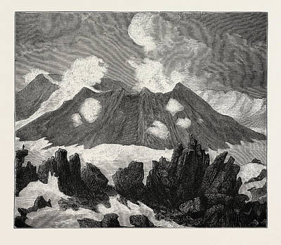 The Crater Of Mount Hekla Poster